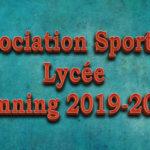 Planning de L'Association Sportive Lycée 2019-2020