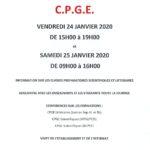 Portes ouvertes CPGE 2020